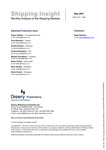 Shipping Insight - May 2007 by Drewry Shipping Consultants