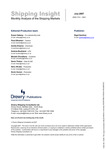 Shipping Insight - July 2007 by Drewry Shipping Consultants