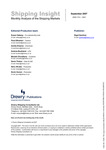 Shipping Insight - September 2007 by Drewry Shipping Consultants