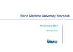 World Maritime University Yearbook: The Class of 2013 by World Maritime University