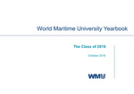 World Maritime University Yearbook: The Class of 2016