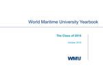 World Maritime University Yearbook: The Class of 2016
